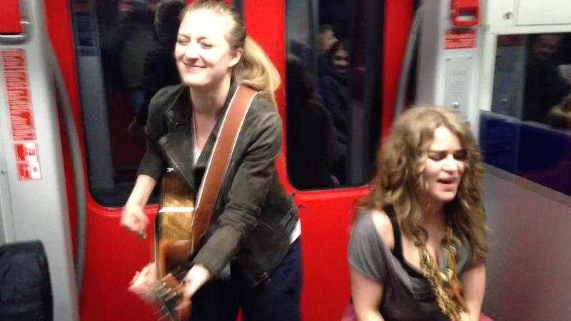 Subway jam Heidi Joubert, Kiddokat Random Passenger - Prince Kiss cover Frankfurt s-bahn