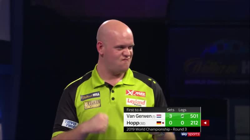 2019 PDC WORLD CHAMPIONSHIP | 170 FINISH FROM VAN GERWEN
