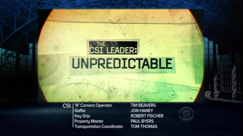 C.S.I. Место преступления/CSI: Crime Scene Investigation (2000 - ...) ТВ-ролик (сезон 12, эпизод 2)