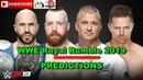 WWE Royal Rumble 2019 SmackDown Tag Team Championship The Bar vs The Miz Shane McMahon Prediction