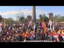 Trabajadores de Paraguay se reúnen frente al Congreso en rechazo a ley de jubilación