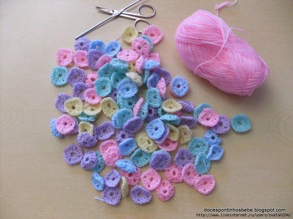 вязание крючком пледы: