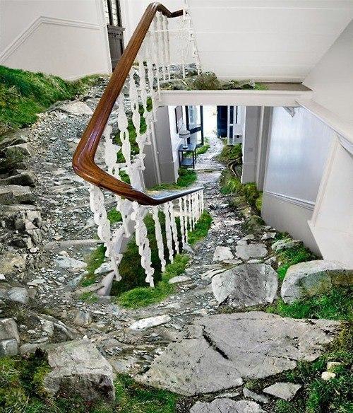 Креативный дизайн лестницы