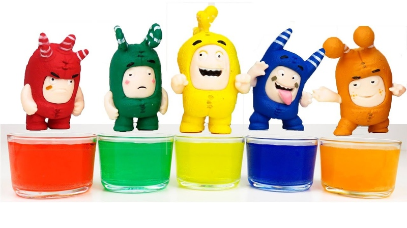 Learn colors with toys Oddbods overload in water Playclaytv