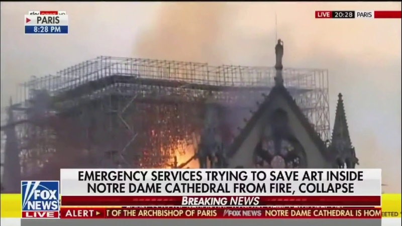 Fox News reporter shuts down interview after conspiracy theories about the Notre Dame fire