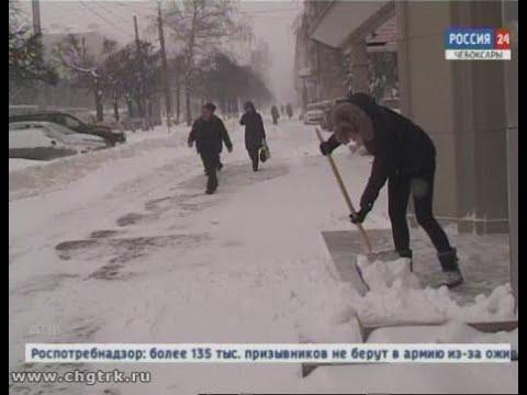 Чебоксарская администрация предлагает сообща бороться с сугробами во дворах