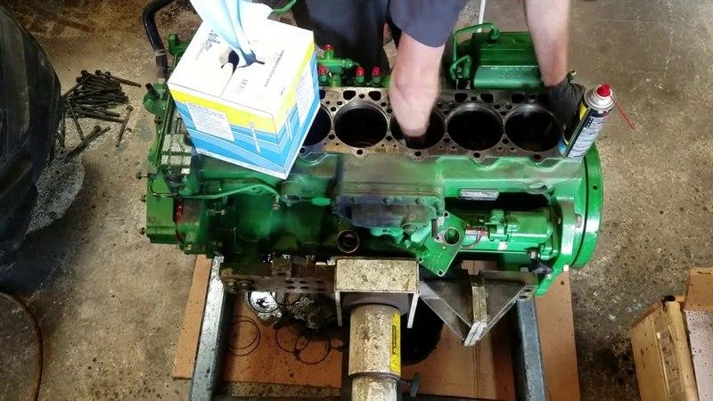 John Deere 8360RT 6090 engine rebuild time lapse