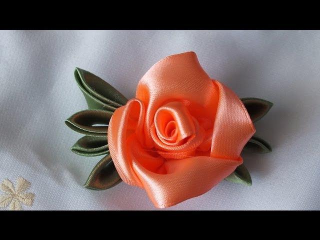 Цветок из атласных лент за 5 мин просто быстро красиво » Freewka.com - Смотреть онлайн в хорощем качестве