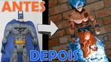TRANSFORMANDO BATMAN NO GOKU SUPER SAYAJIN BLUE (DRAGON BALL SUPER) - TOY MAKEOVER
