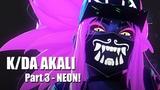 KDA Akali NEON - Part 3 - Blender 3D Timelapse