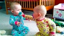 TRY NOT TO LAUGH FUNNY TWIN BABY ARGUING OVER PACIFIER