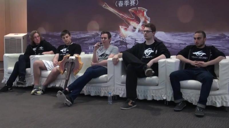 Press Conference with the Team Secret Mars TV Dota 2 League Русские субтитры