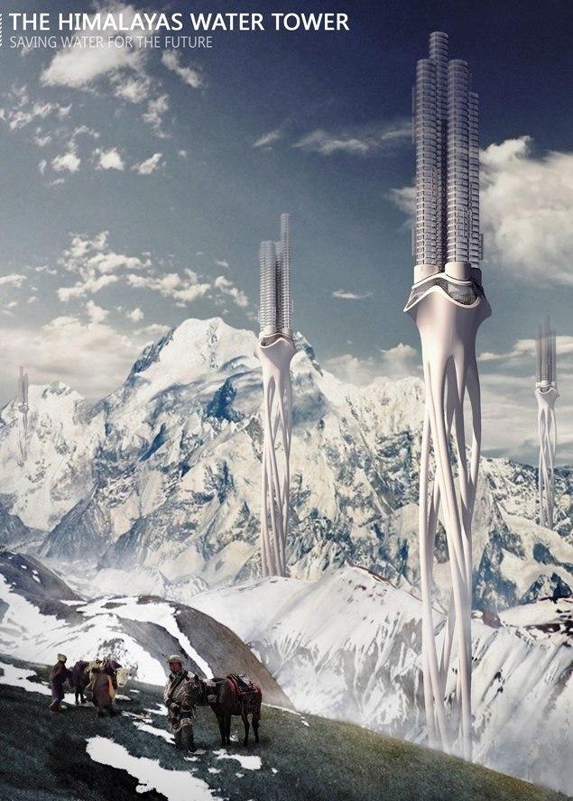 Himalaya Water Tower  (Гималайская водонапорная башня)  Zhi Zheng,