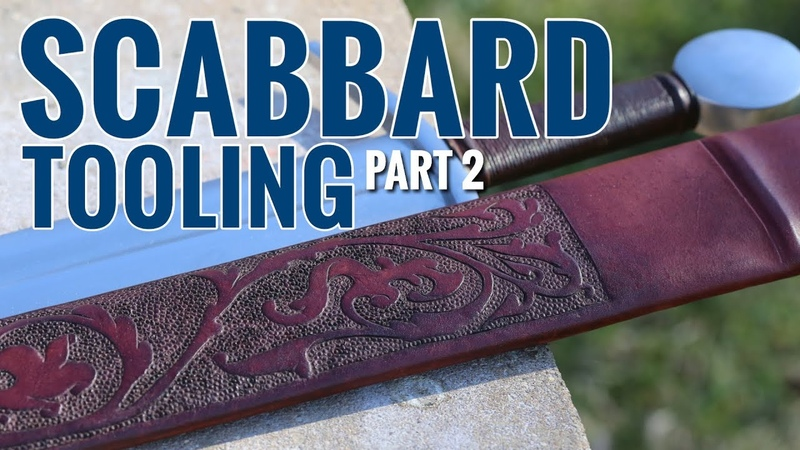 Medieval Scabbard No.3, Carving and Staining
