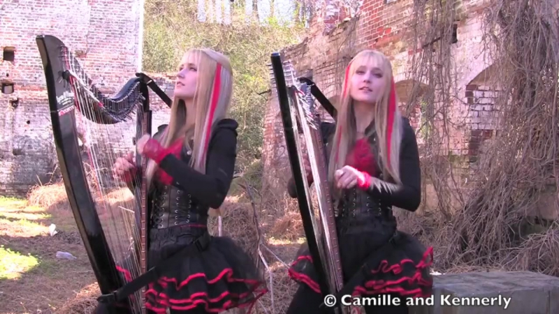 IRON_MAIDEN_Fear_of_the_Dark_Harp_Twins_(Camille_and_Kenn)