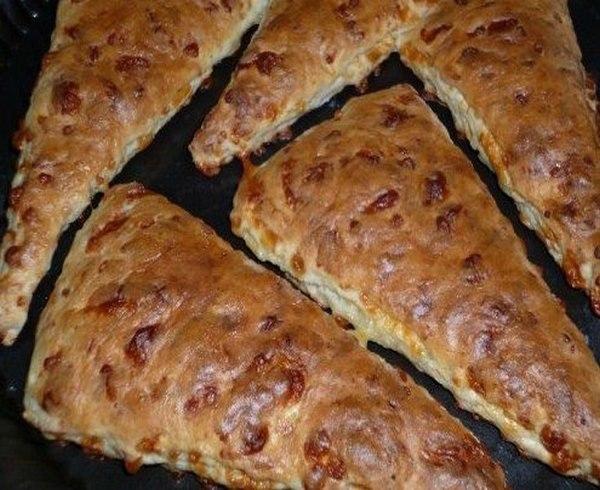 Быстрые булочки - сконы с сыром -