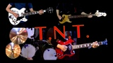 T.N.T. - Instrumental Cover w Lyrics - Guitars, Bass and drums