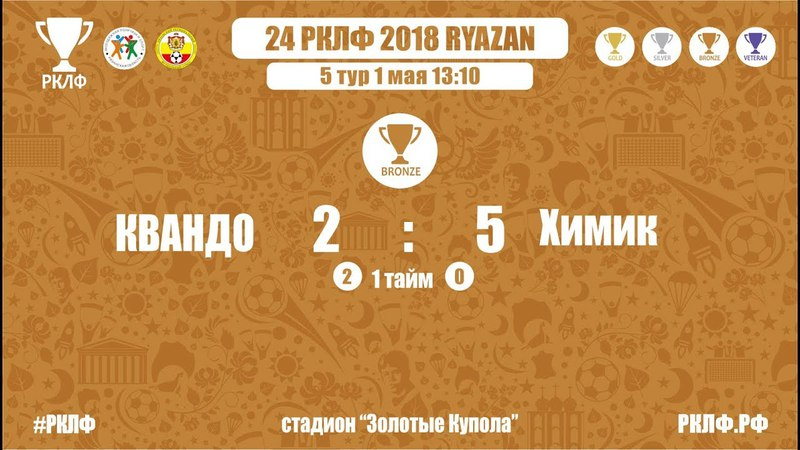 24 РКЛФ Бронзовый Кубок КВАНДО-Химик 2:5