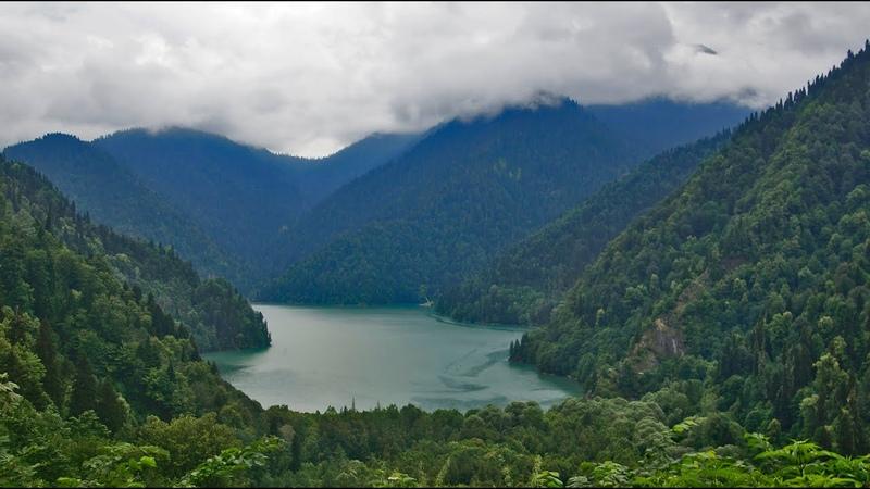 Абхазия горное озеро Рица Abkhazia mountain lake Ritsa