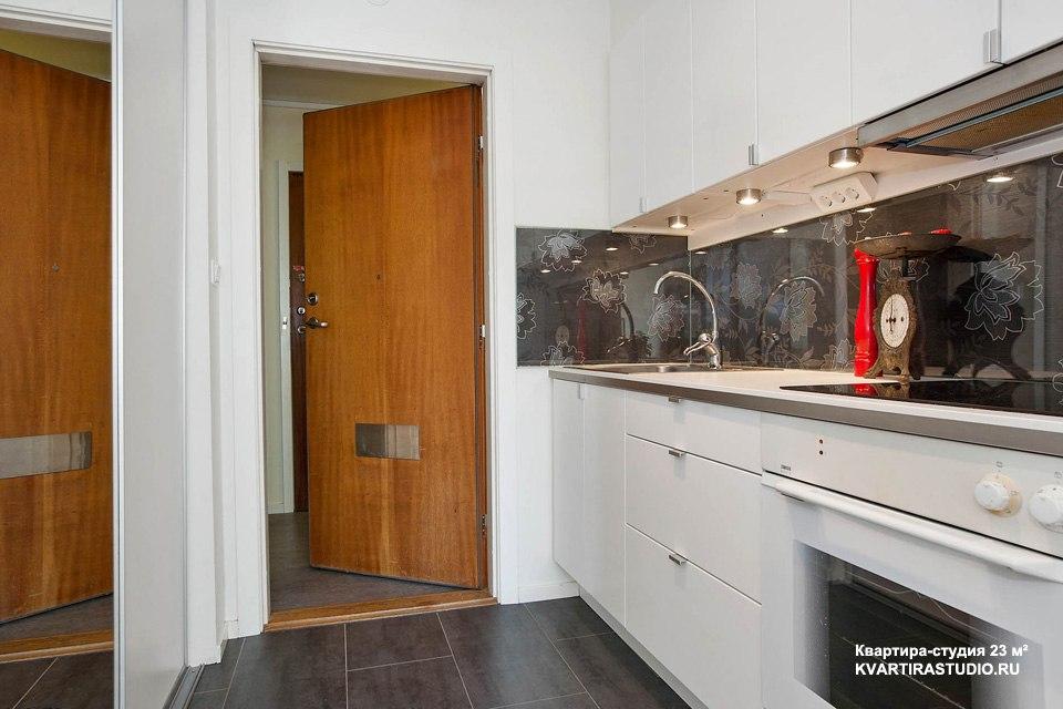 Квартира-студия 23 м с кухней-прихожей в Турку / Финляндия - http://kvartirastudio.