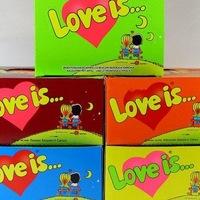 LOVE IS, KINDER, HARIBO, SNIKERS, MILKY WAY