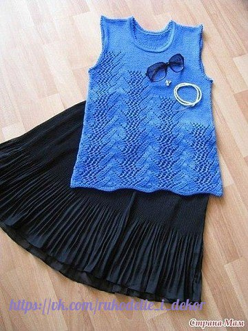 """针织背心""""蓝色的湖"""" - maomao - 我随心动"""
