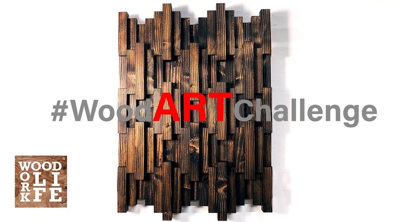 DIY Wooden Wall Art - JUST TWO 2 x 6s! | Builds