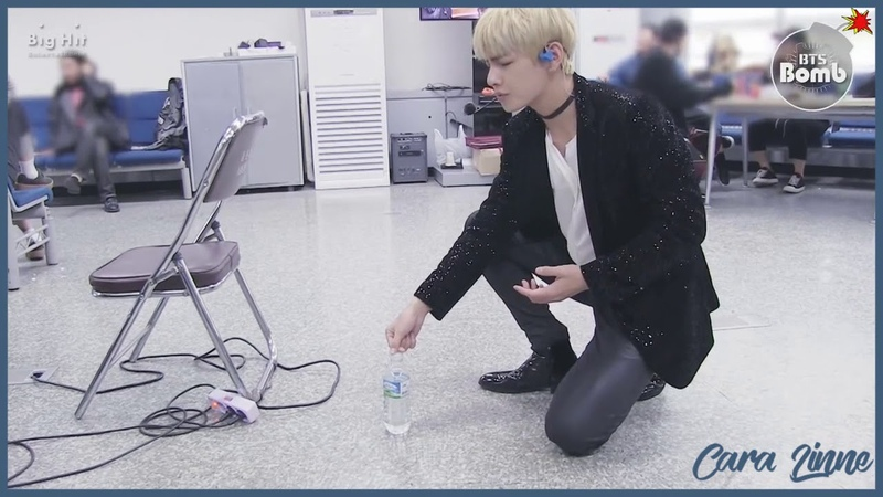 [Озвучка by Cara Linne][BANGTAN BOMB] V's new game (Feat. a water bottle)