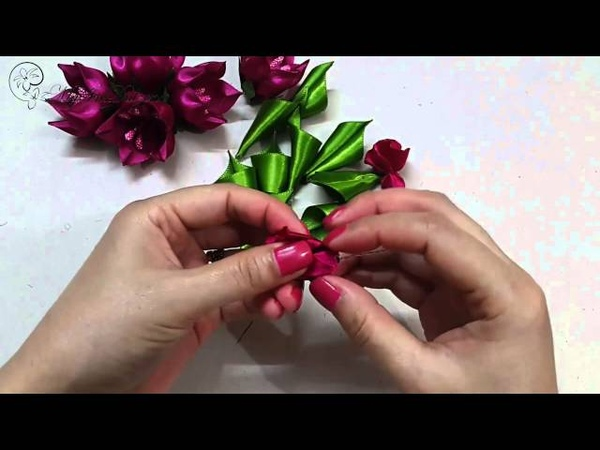 ✾ ❀ ❁ D.I.Y. Kanzashi Tulip Flower   MyInDulzens ❁ ❀ ✾