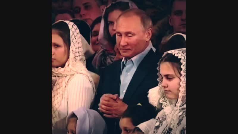 Путин встречает Рождество в Спасо-Преображенском соборе