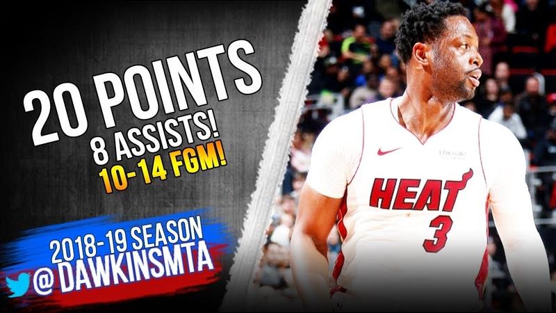 Dwyane Wade Full Highlights 2019 01 18 Heat vs Pistons 20 Pts 8 Assists FreeDawkins