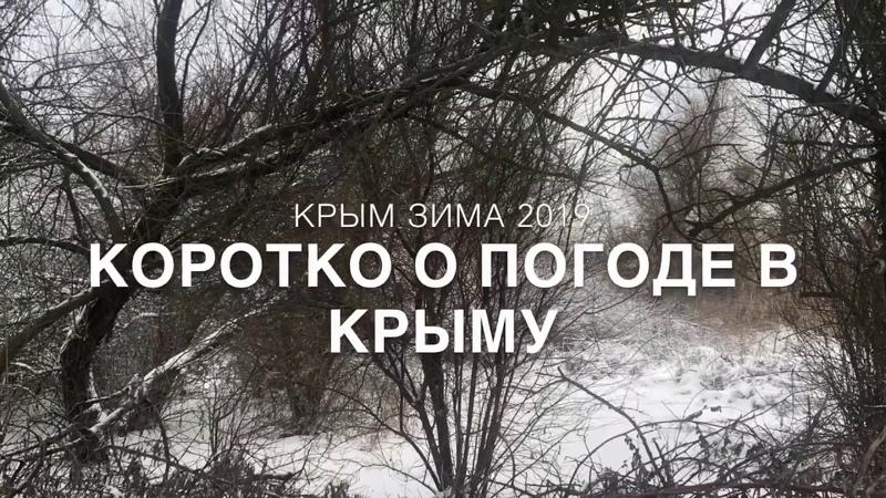 Крым сегодня Зима в Крыму Погода в Крыму