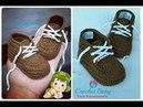 Sapatinho CHAVES de Crochê Tamanho 09 cm Crochet Baby Yara Nascimento
