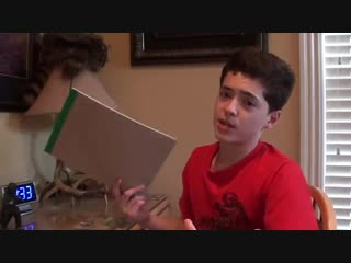 Beautiful 13 year old filmmaker boy tells how to make a good movie