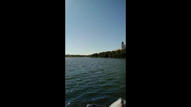 на Семеновском озере. 32°С