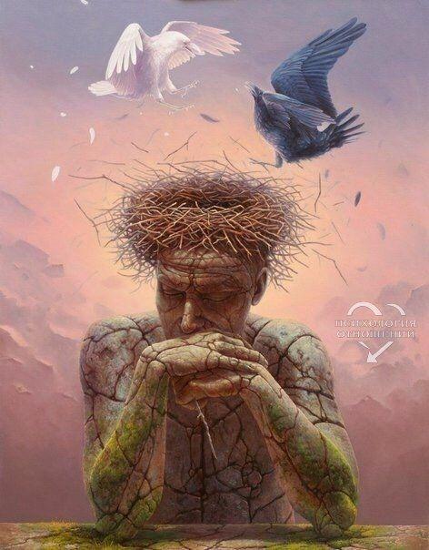 Мы не можем запретить птицам пролетать над нашей головой, но мы не позволим им садиться нам на голову и вить на ней свои гнезда. Подобно этому мы не можем запретить дурным мыслям иногда приходить к нам в голову, но мы не должны позволять им гнездиться в н