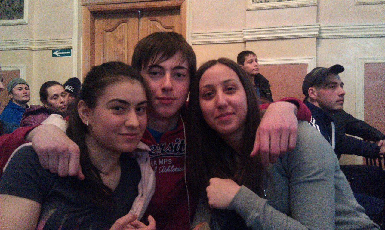 Georgy Tautiev with 2 girls - 30 March 2013 │ Photo Source: Georgy Tautiev