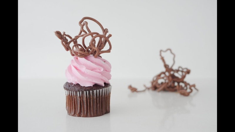 Crazy Chocolate Swirl decorations for desserts, how to cook that ann reardon