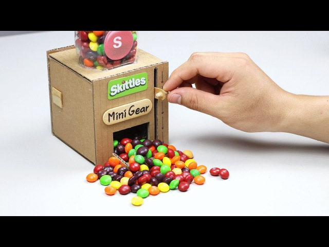 How to make Mini Skittles Dispenser at Home