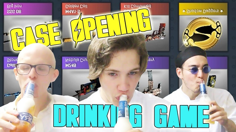 CASE OPENING DRINKING GAME - Feat. FilthyFrank IDubbbz - CS:GO Case Opening