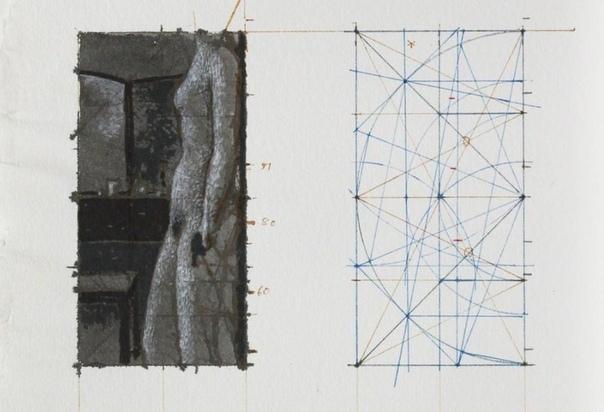 Алекс Колвилл/ Alex Colville (1920 2013, Канада). Эскизы к картинам.