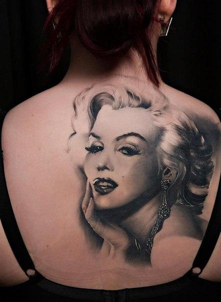 Такая разная Marilyn Monroe! #татуировки@tattoobase