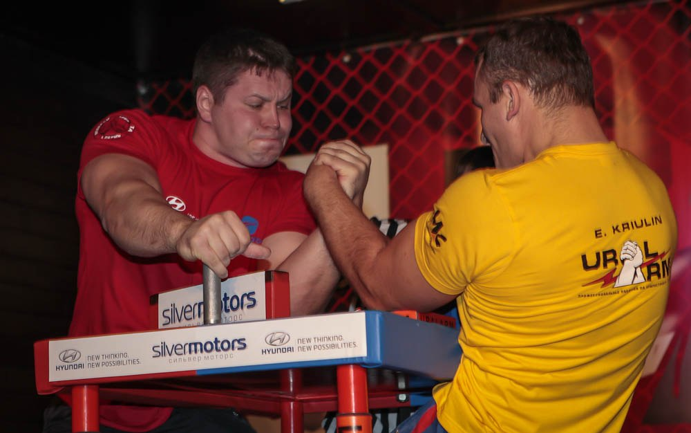 Ivan Kormilchev (red shirt) Vs. Evgeny Kriulin (yellow shirt)