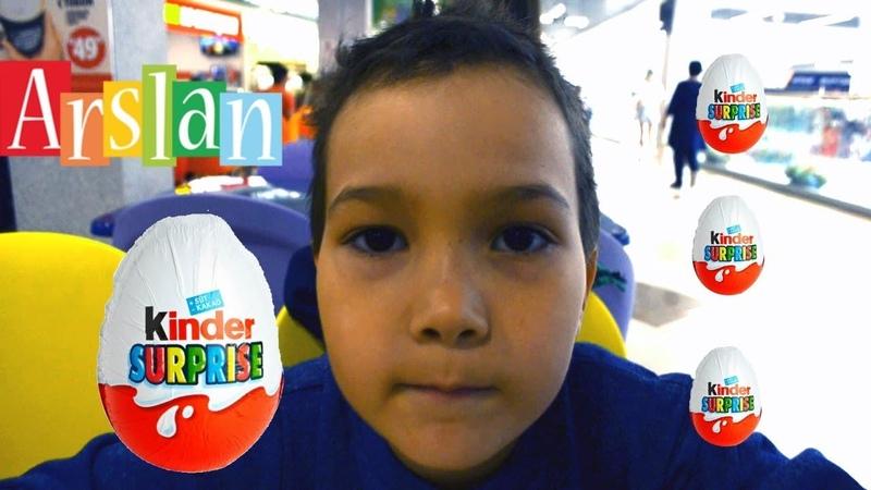 Супер Арслан делает шоколадный челлендж он открывает яйцо киндер сюрприз с игрушкой kinder surprise