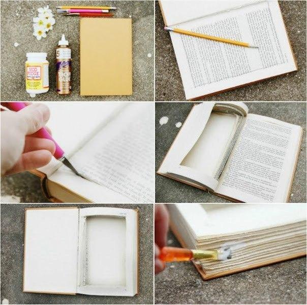Как сделать старую книгу своими руками