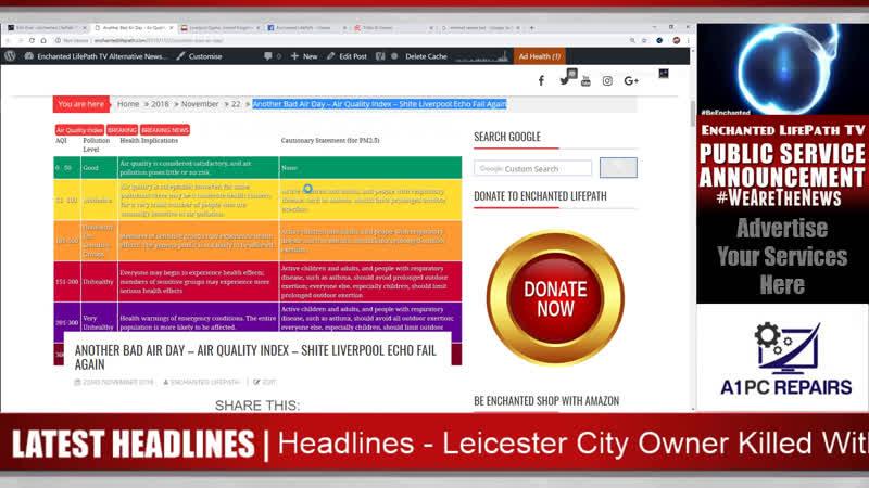 Another Bad Air Day – Air Quality Index – Shite Liverpool Echo Fail Again