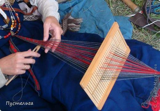 по плетению пояса на бердо