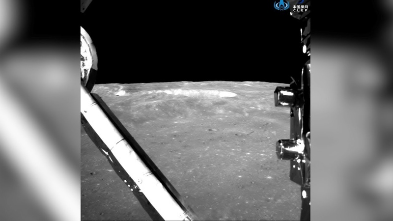 Footage Chang'e-4 making soft landing on the Moon's far side