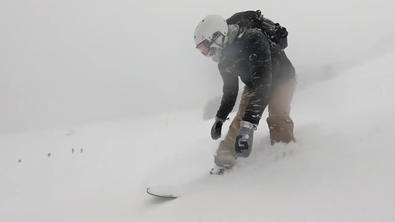 Chile Powder Snowboarding at Abandoned Resort