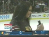 Latina Chick Delights Blackhawk Fans With Smooth Hockey Goal